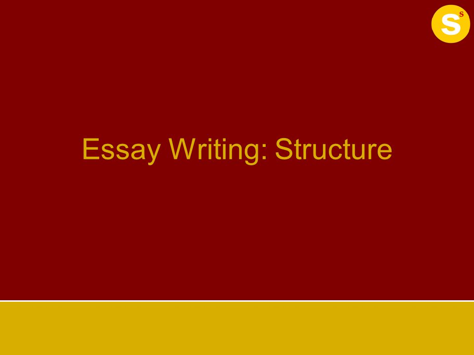 structure for essay writing