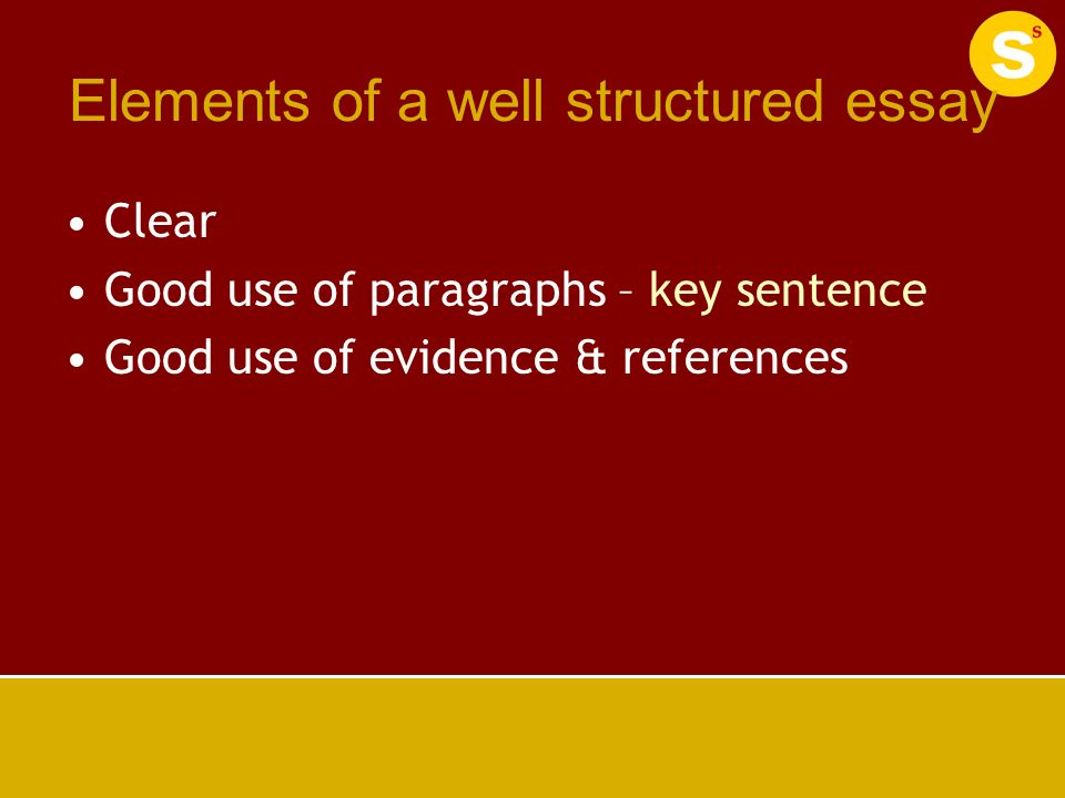 elements of a well written essay Writing a descriptive essay in this tip sheet we will discuss the descriptive essay as it is commonly assigned by instructors as an and sound as well as.
