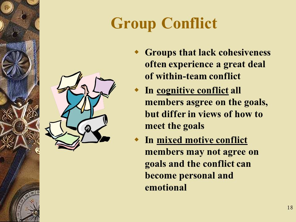 lack of cohesiveness in groups Strong group leadership and cohesiveness will enable disagreements to  to  overcome lack of self-confidence, where members wish to contribute but fear to.