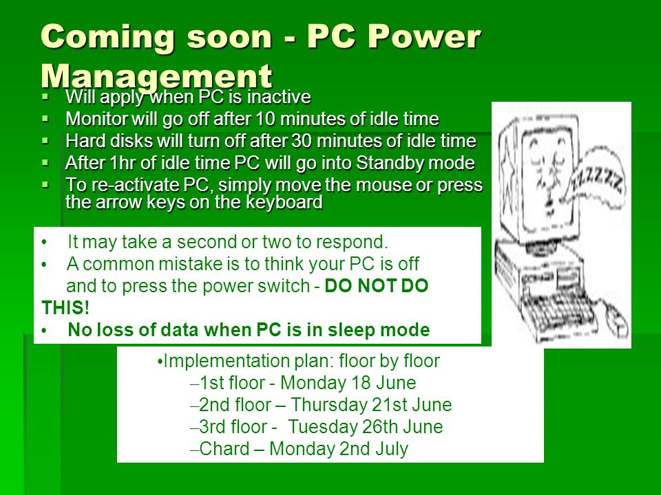 Coming soon - PC Power Management