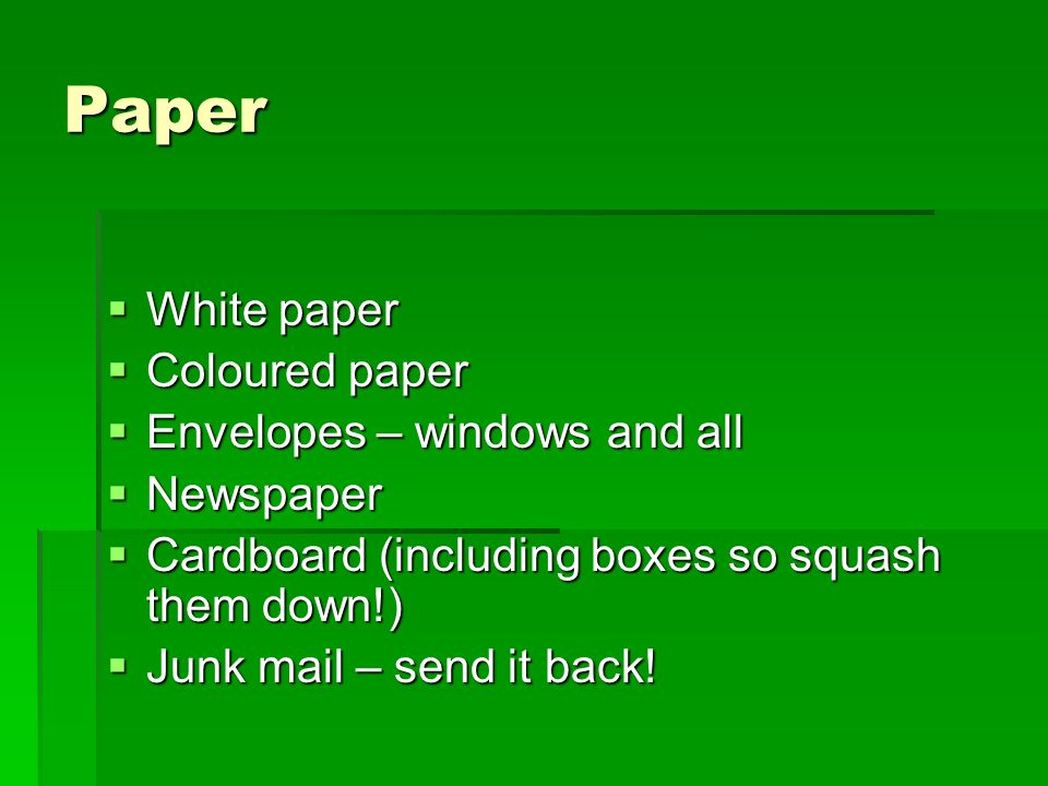 Paper White paper Coloured paper Envelopes – windows and all Newspaper