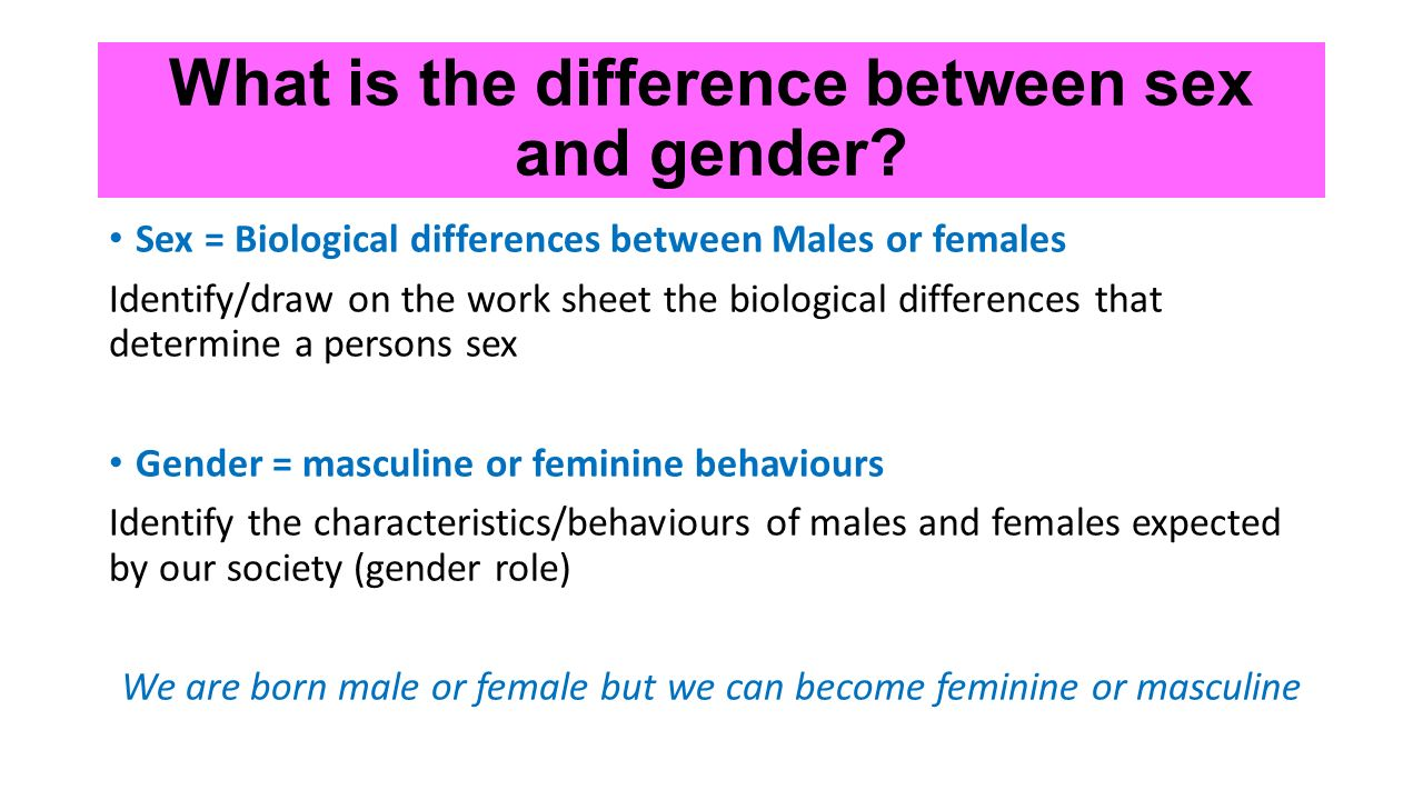 Biological Differences Between Men and Women