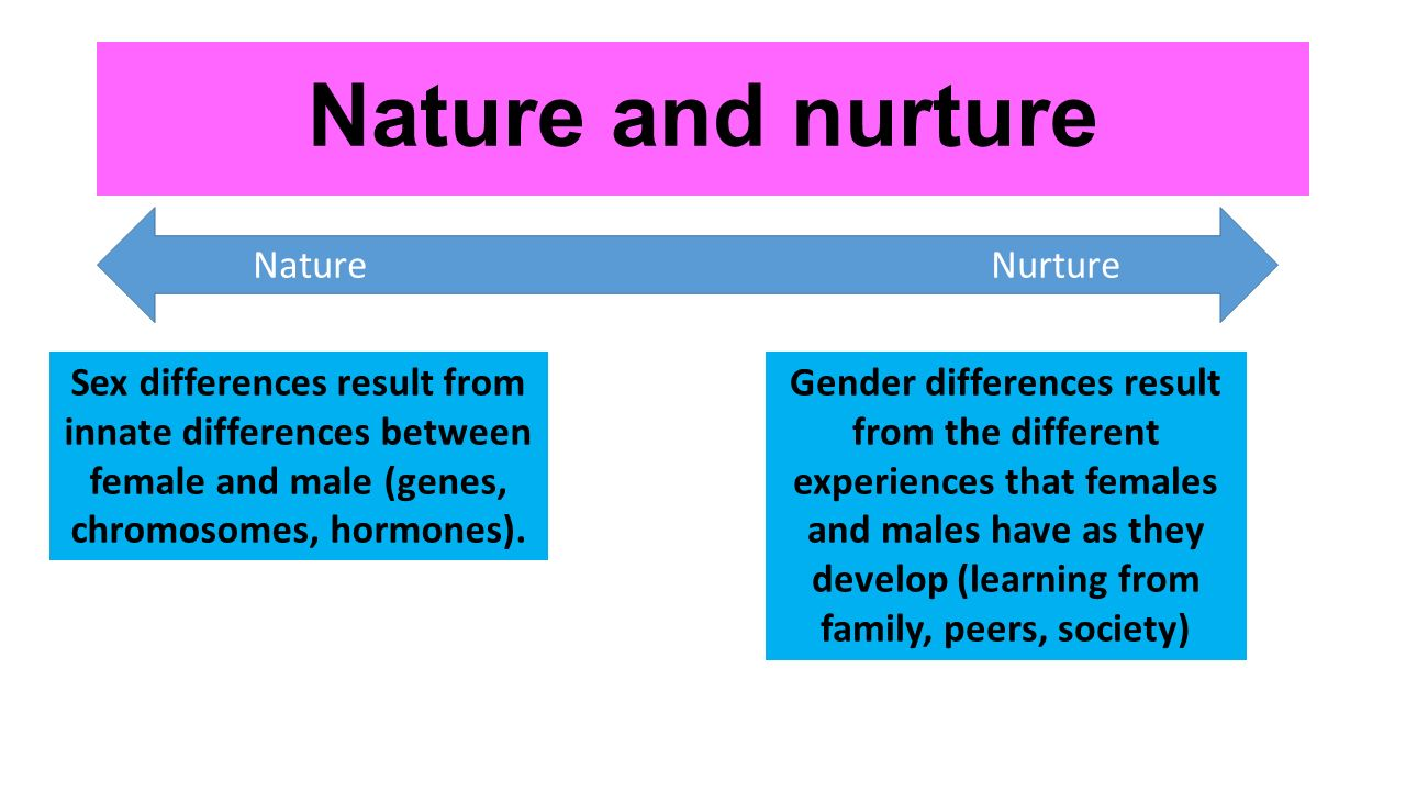 nature and nurture a gender sandwich Although the nature versus nurture debate about gender differences has  persisted for decades, few studies have examined the implications of individuals' .
