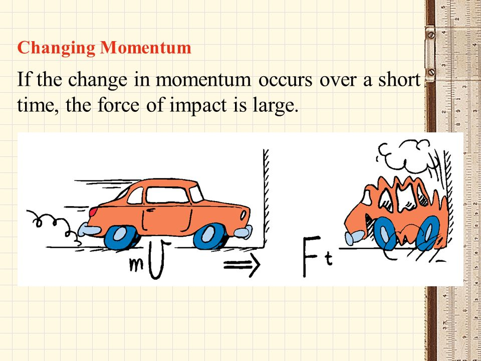 how to find change in momentum with force and time