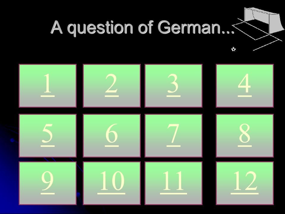 A question of German