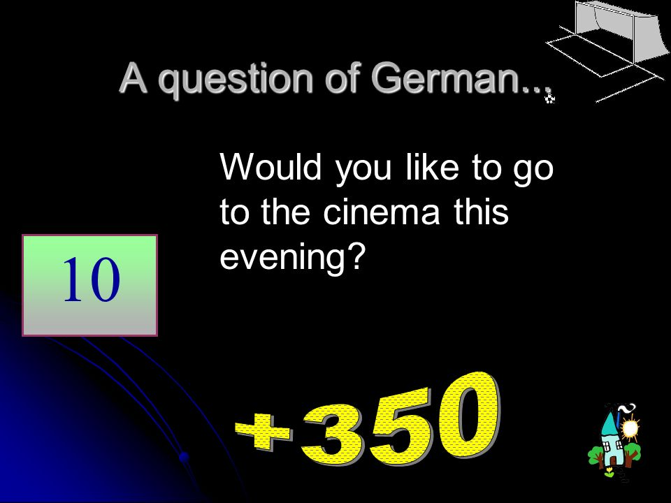 A question of German... Would you like to go to the cinema this evening