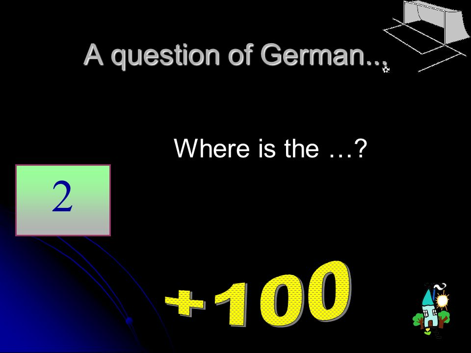 A question of German... Where is the …