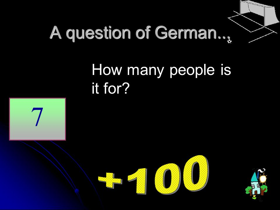 A question of German... How many people is it for 7 +100
