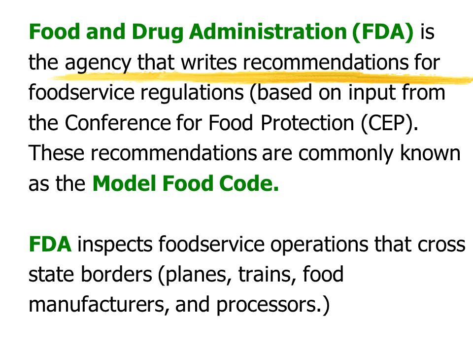 the food and drug administration responsible Creation of the food and drug administration, which was entrusted with the  responsibility of testing all foods and drugs destined for human consumption the .