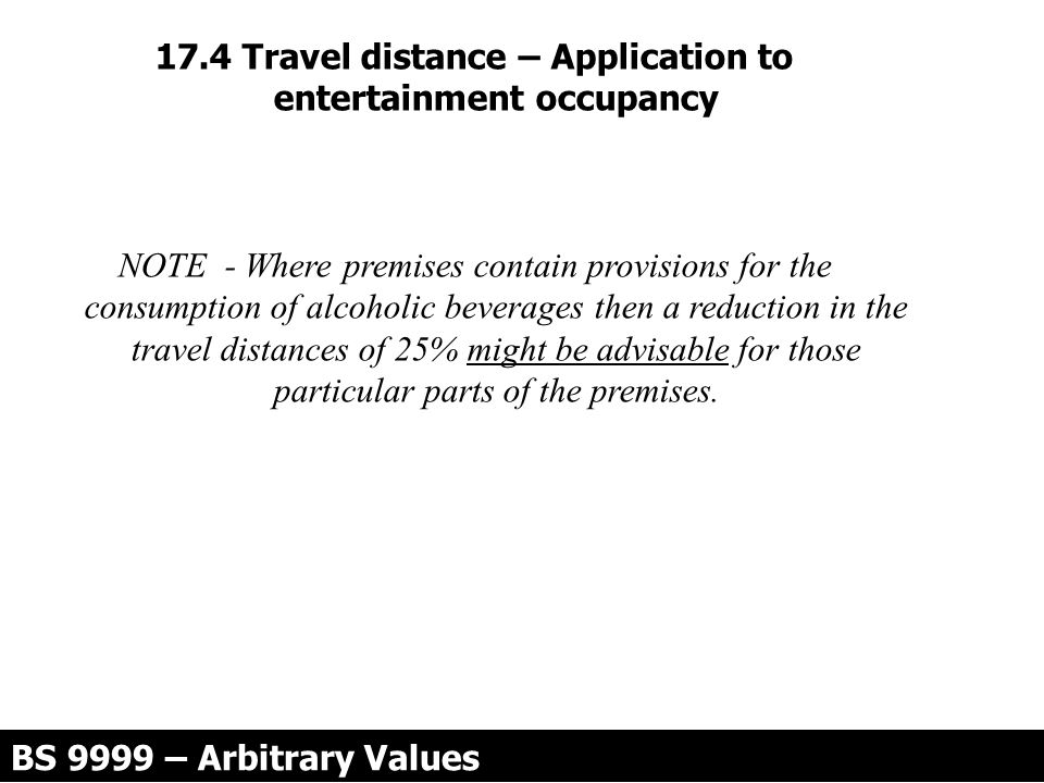 17.4 Travel distance – Application to entertainment occupancy