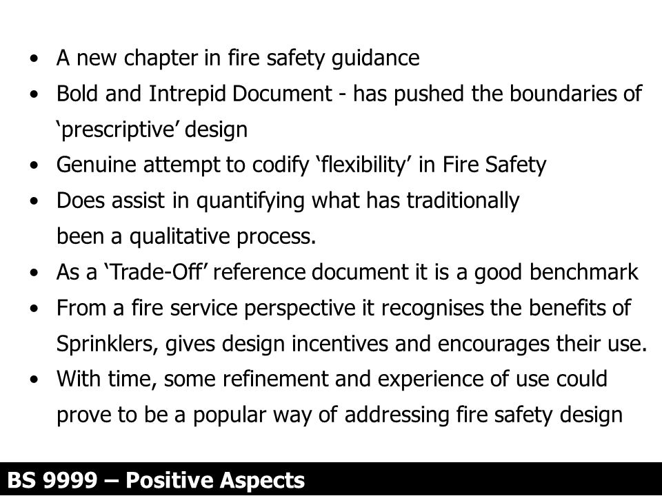 A new chapter in fire safety guidance
