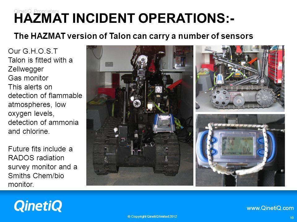 HAZMAT INCIDENT OPERATIONS:-