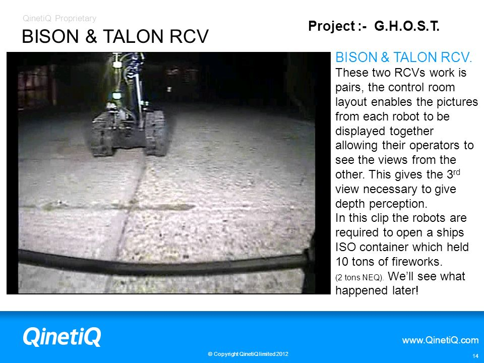 BISON & TALON RCV Project :- G.H.O.S.T. BISON & TALON RCV.