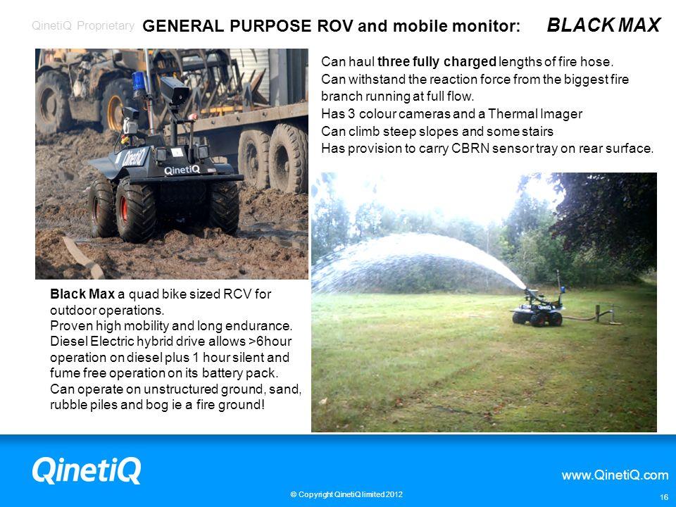GENERAL PURPOSE ROV and mobile monitor: BLACK MAX