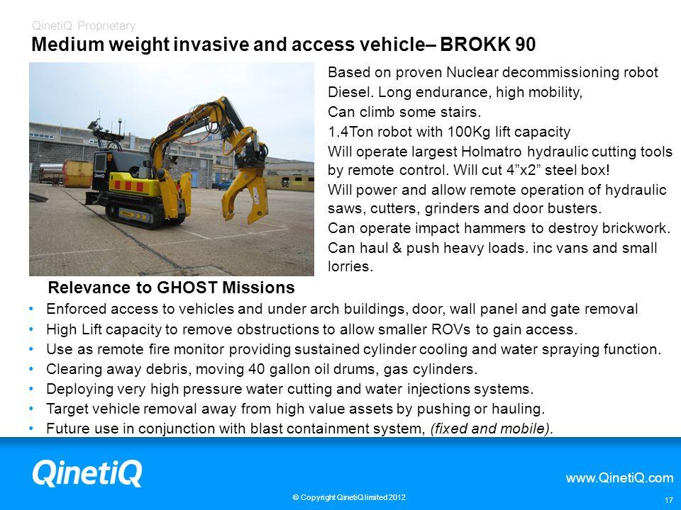 Medium weight invasive and access vehicle– BROKK 90