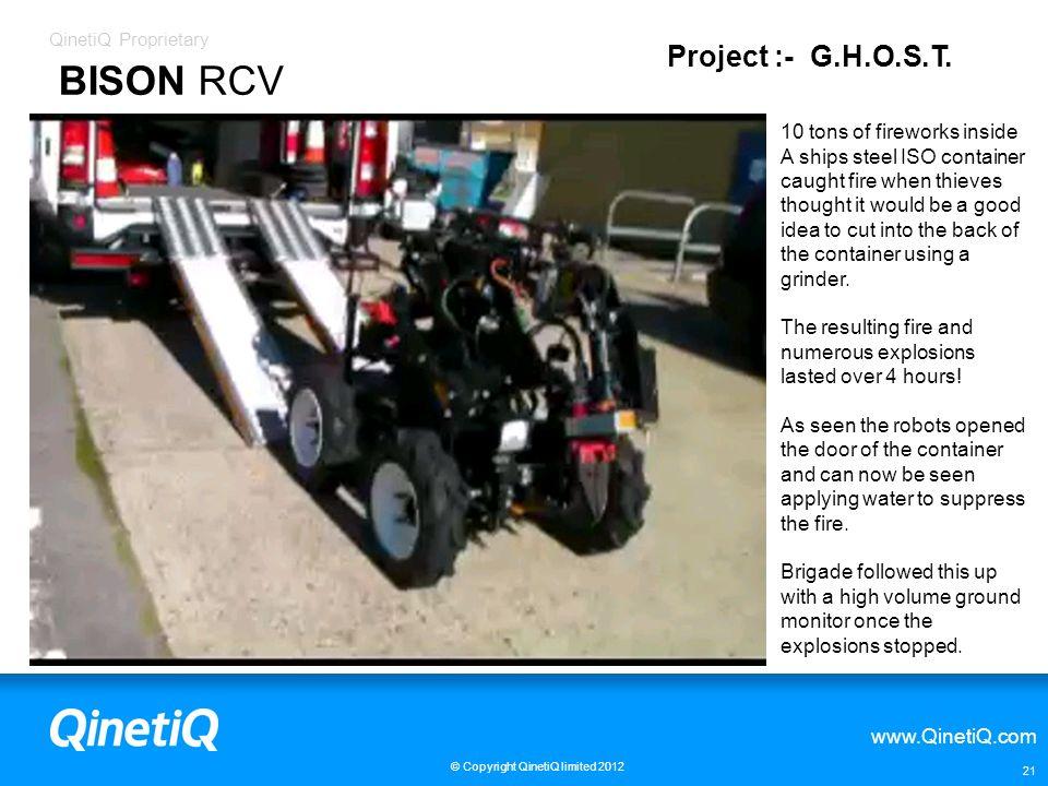BISON RCV Project :- G.H.O.S.T. 10 tons of fireworks inside