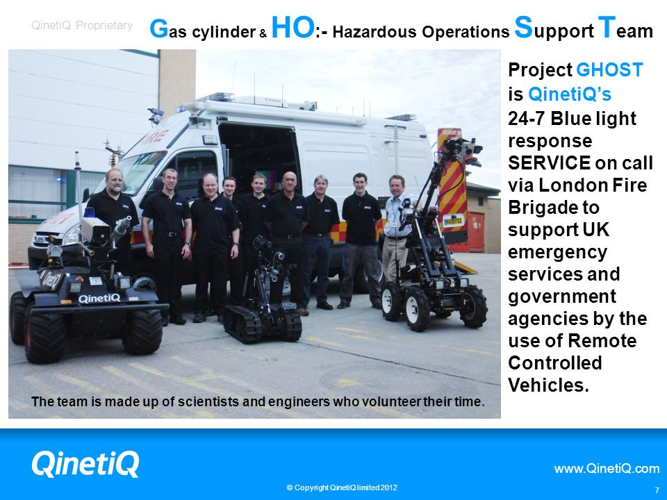 Gas cylinder & HO:- Hazardous Operations Support Team