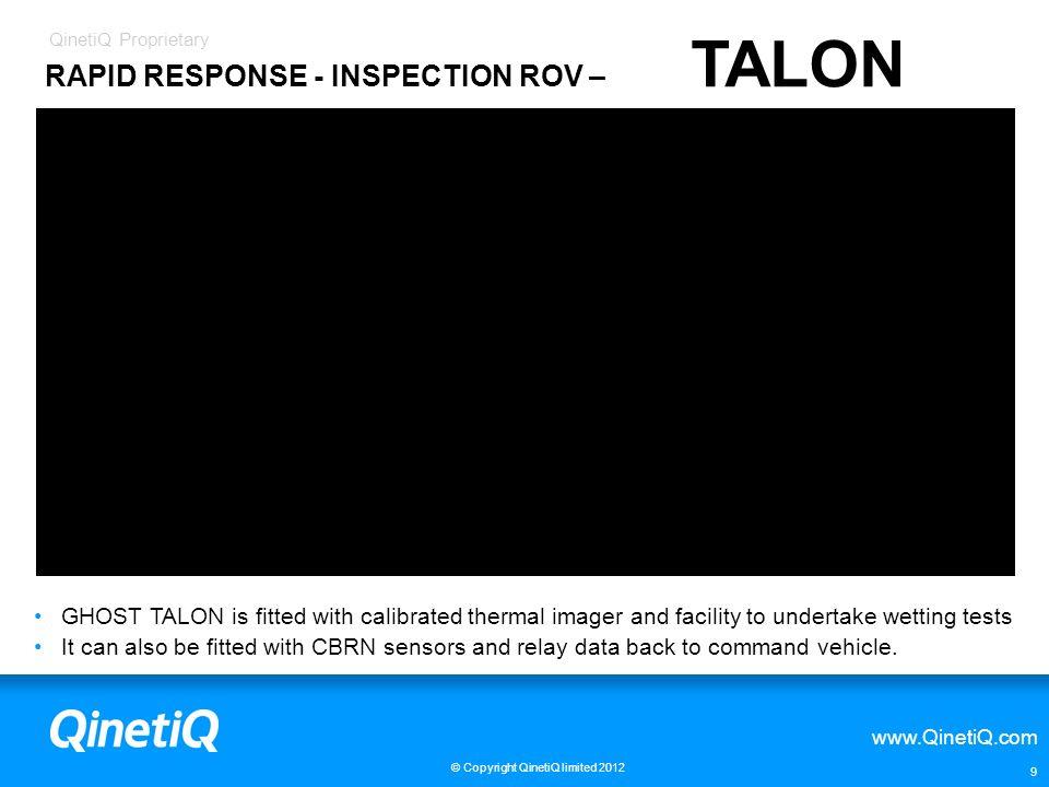RAPID RESPONSE - INSPECTION ROV – TALON