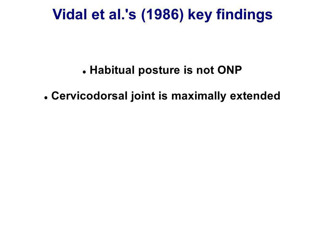 Vidal et al. s (1986) key findings