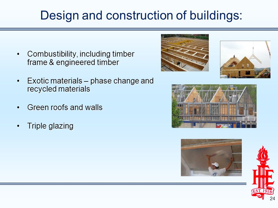 Design and construction of buildings:
