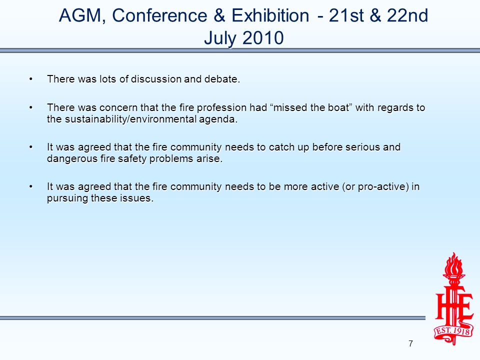 AGM, Conference & Exhibition - 21st & 22nd July 2010