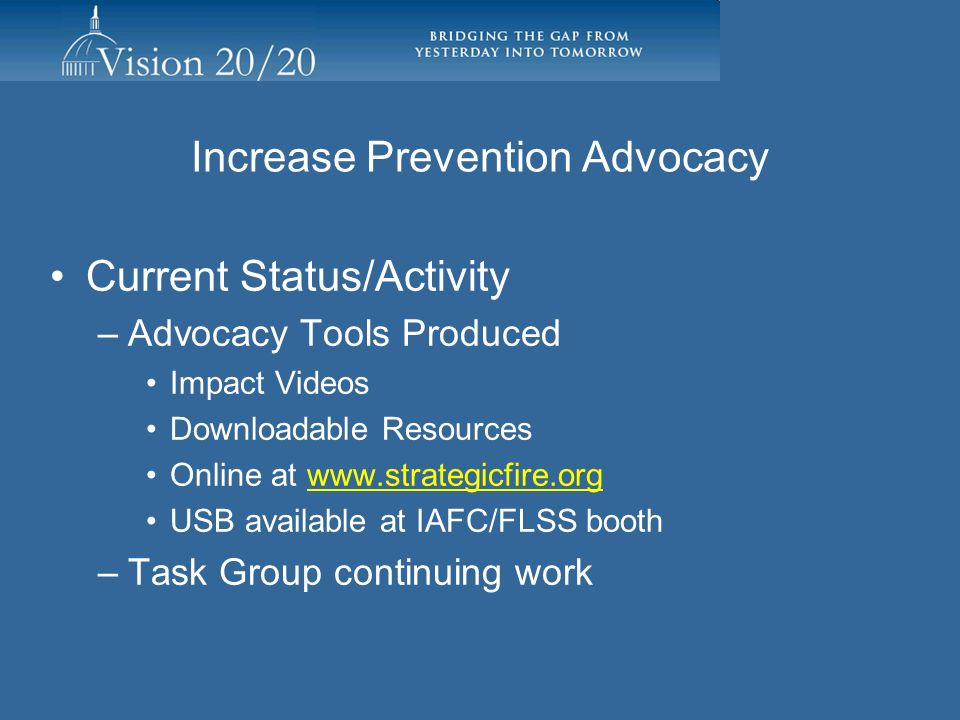 Increase Prevention Advocacy