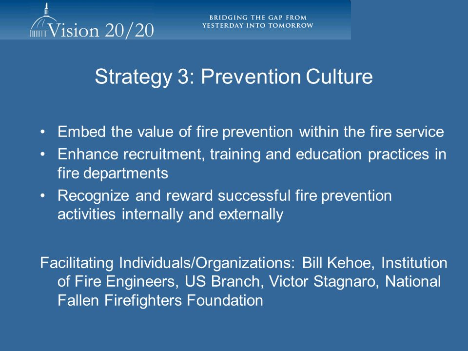 Strategy 3: Prevention Culture