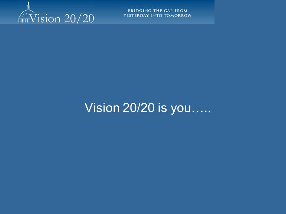 Vision 20/20 is you…..