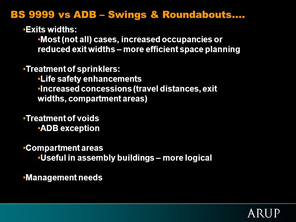 BS 9999 vs ADB – Swings & Roundabouts….