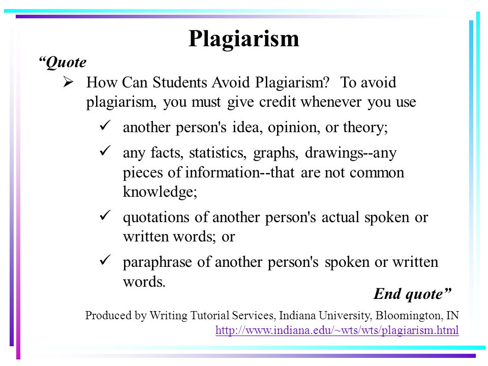 generating knowledge and avoiding plagiarism in academic writing