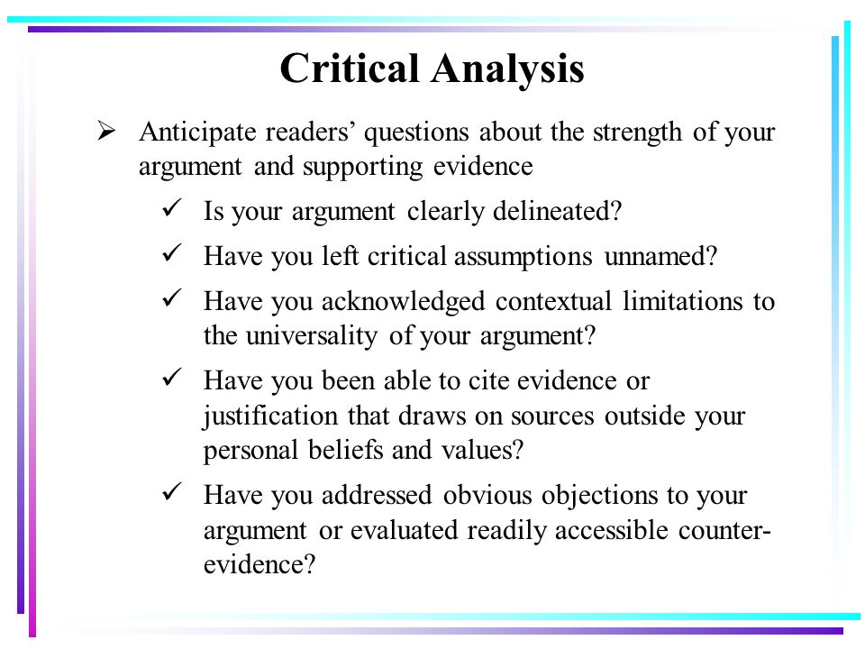 a literary analysis of the aims of argument This sample analysis of an argument contains an actual analytical writing assessment (awa) question and answer from a real gmat exam sample awa question.