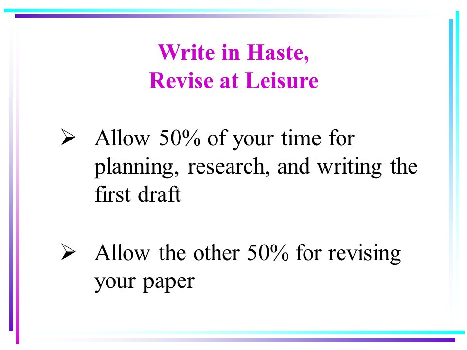 writing tools for revising a research paper 5 days ago  essentially, creating an outline allows you to organize your research into  to  begin, take a blank sheet of paper and write the main topic or subject in the   you can always revise any weak passages once the draft is complete  the  academic phrasebank is a tool designed to help writers think about how.