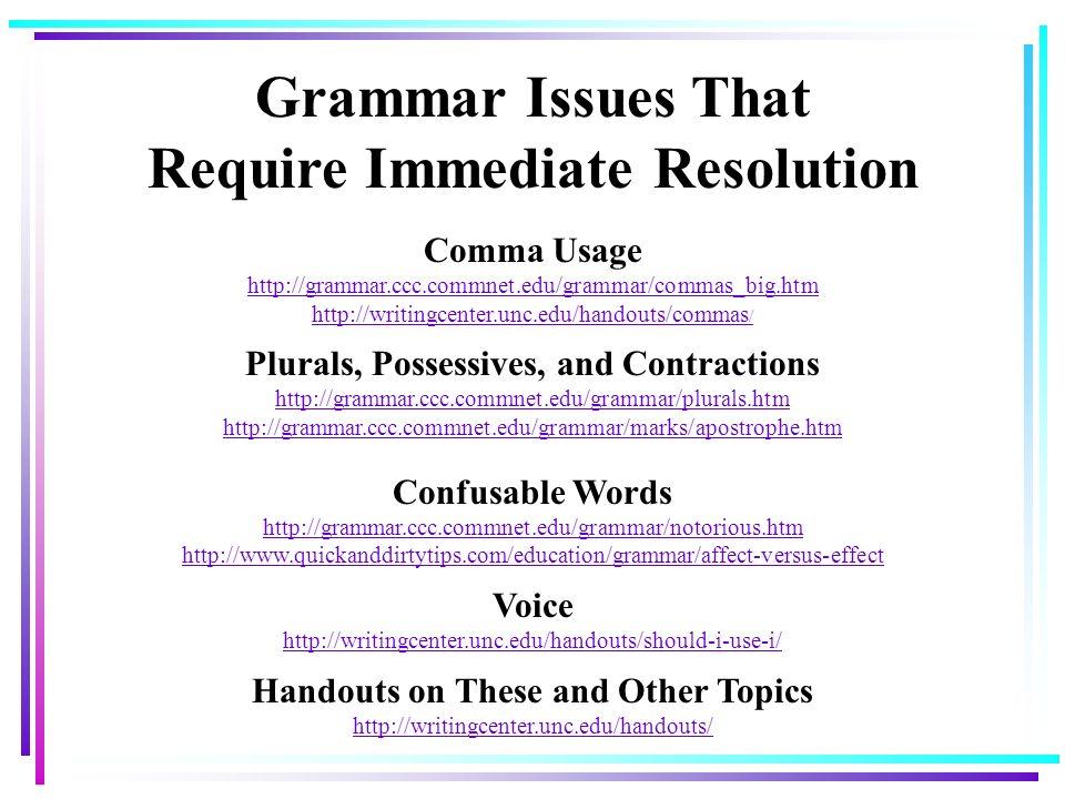 Professional Writing Mercer University Academic Resource Center ...