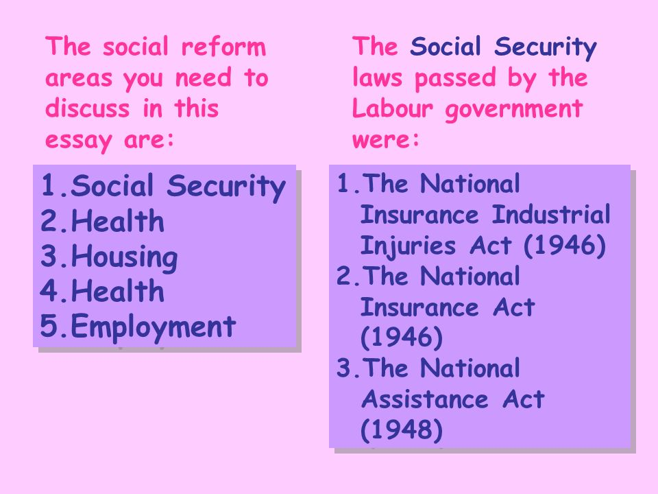 Essay on social security reform