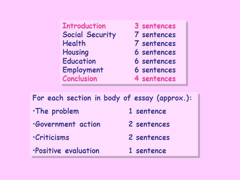 Introduction 3 sentences