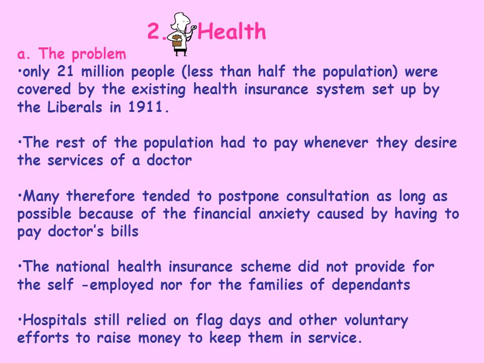 2. Health a. The problem.