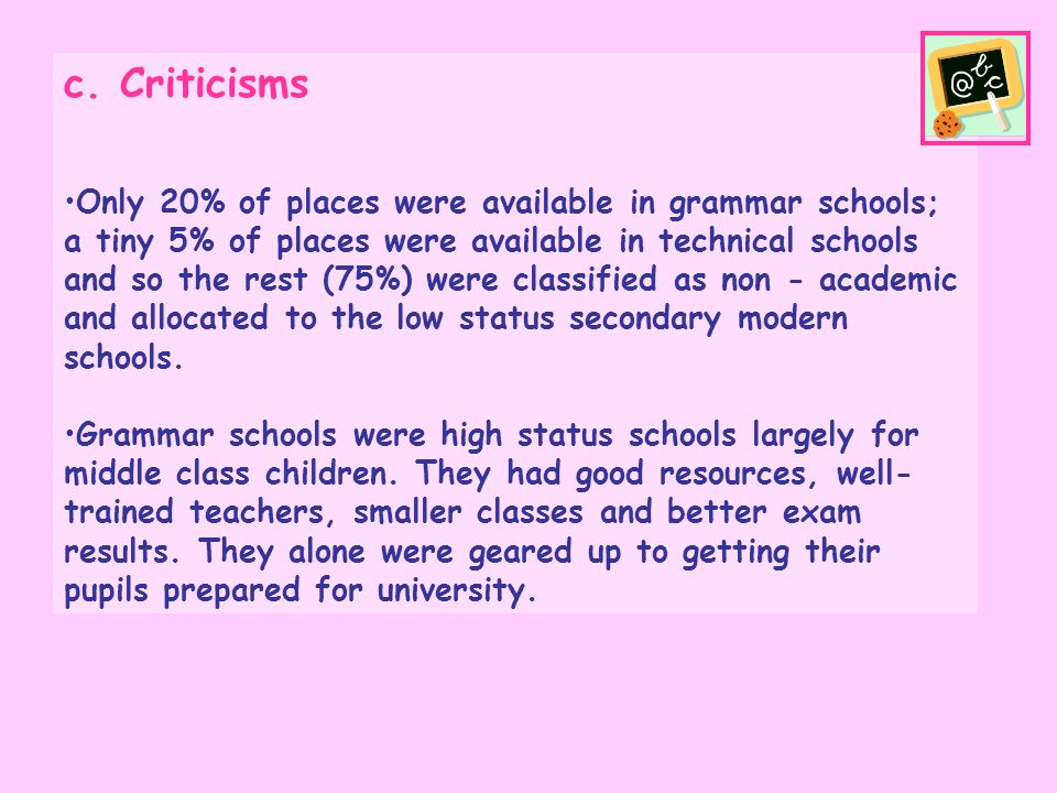 c. Criticisms