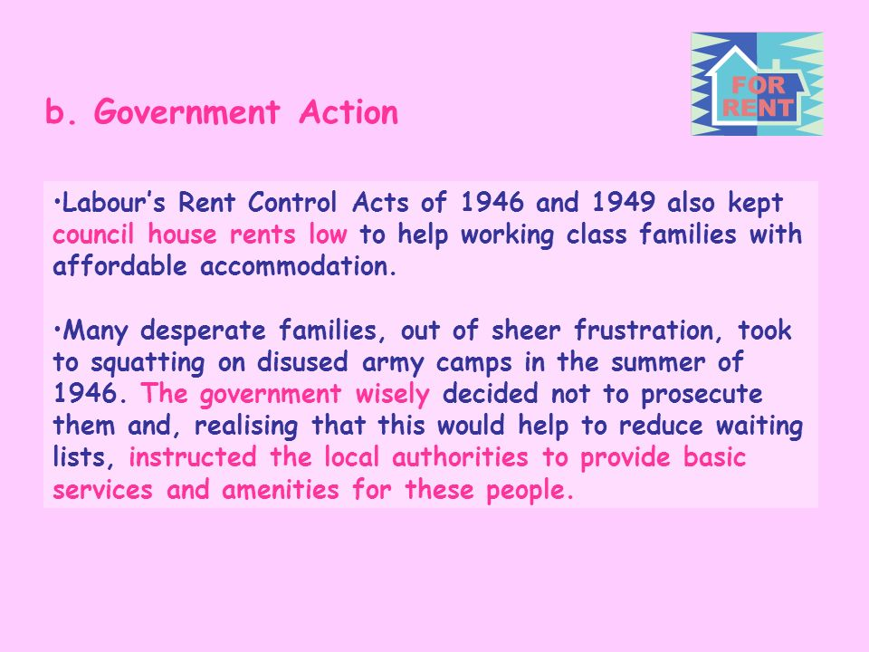 b. Government Action