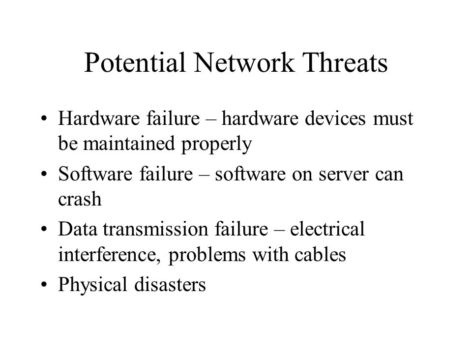 Potential Network Threats