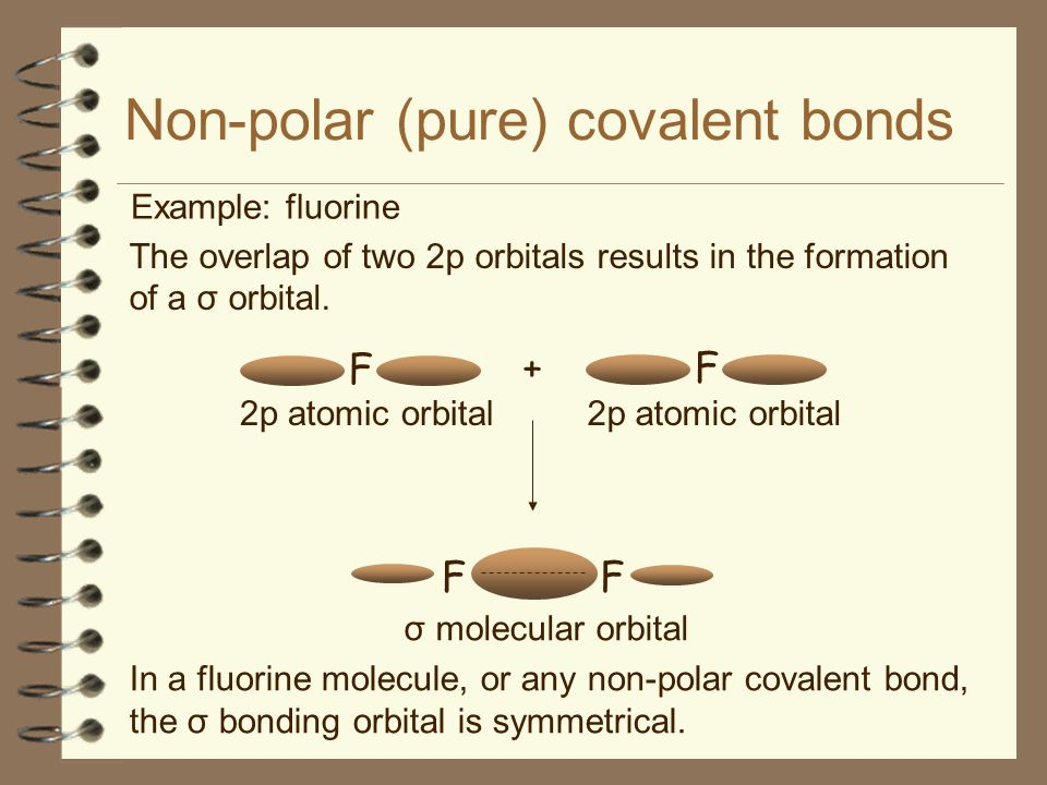 Non-polar (pure) covalent bonds