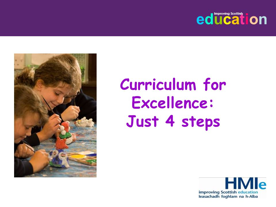 Curriculum for Excellence: Just 4 steps