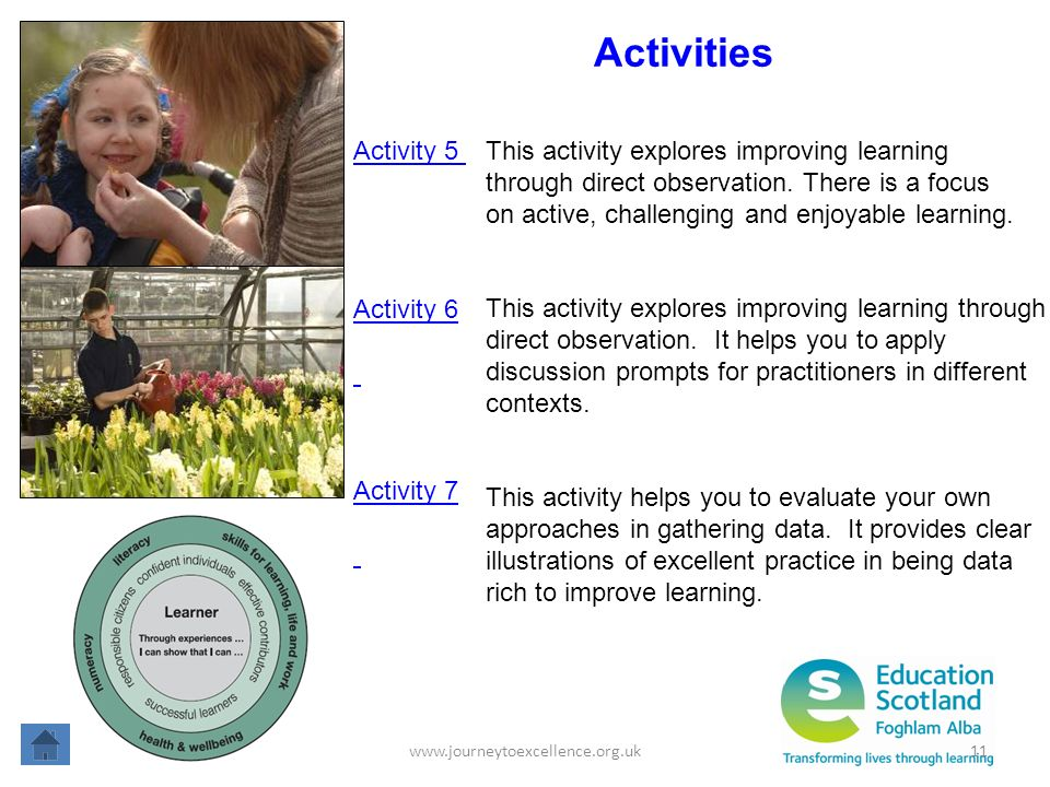 Activities Activity 5 This activity explores improving learning