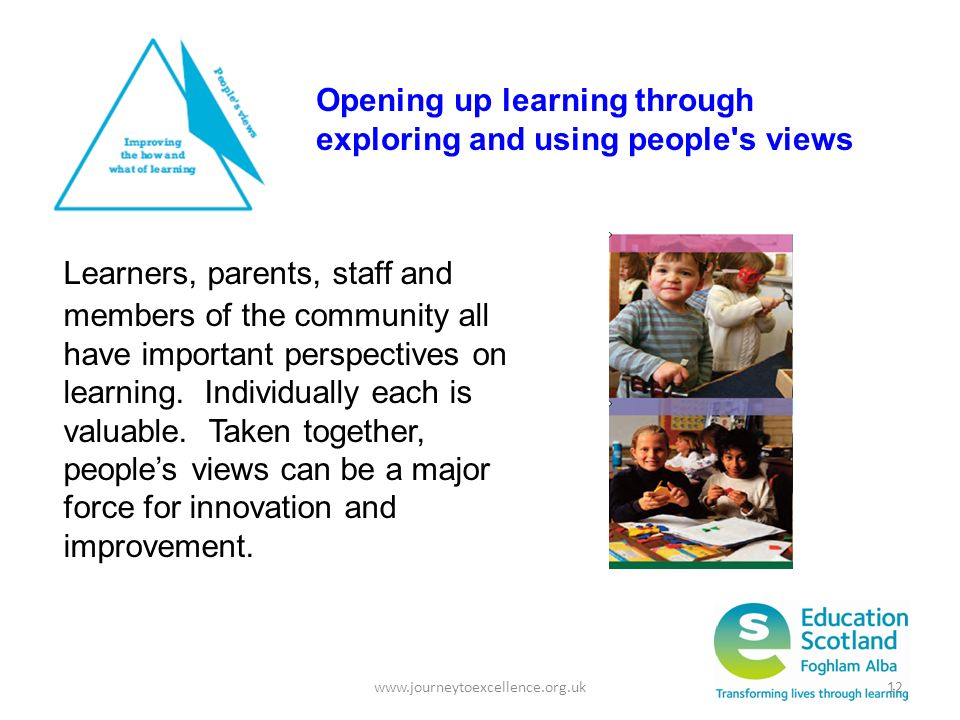 Opening up learning through exploring and using people s views