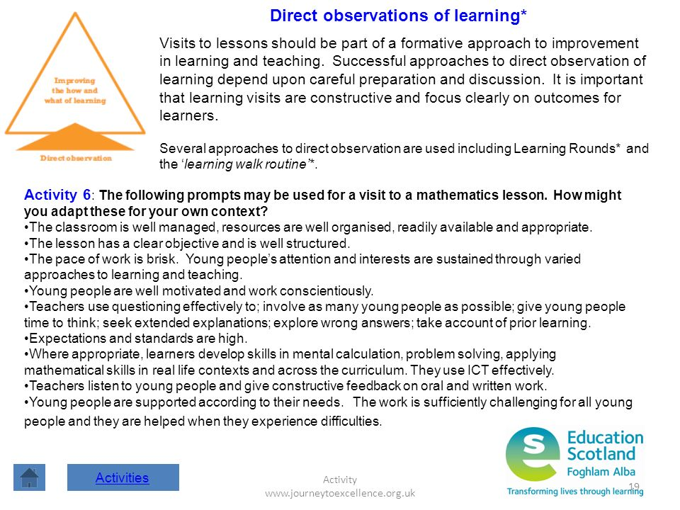 Direct observations of learning*