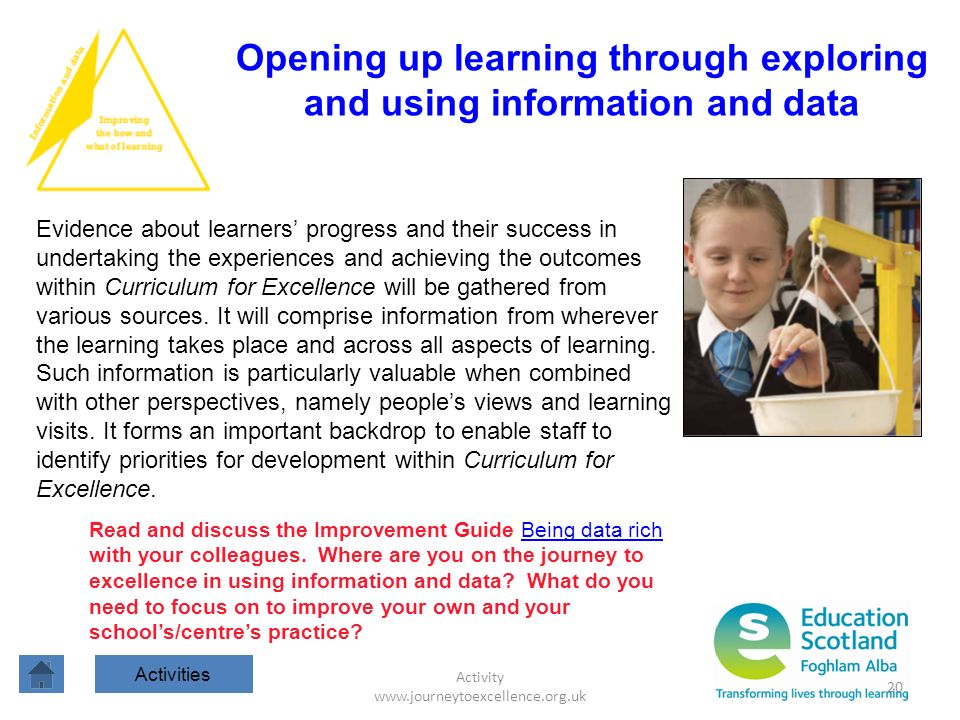 Opening up learning through exploring and using information and data