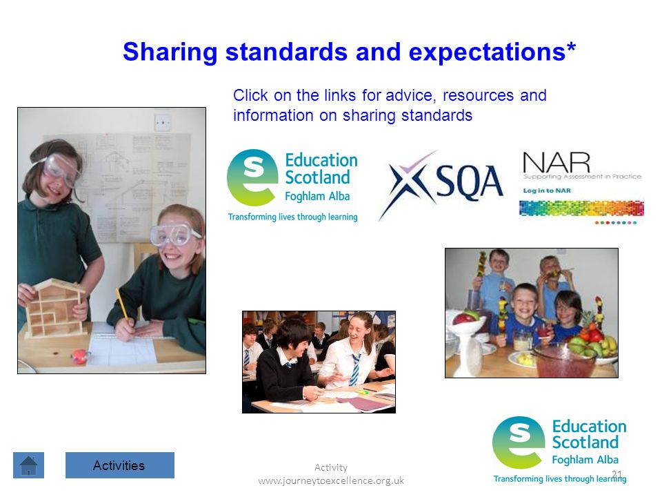 Sharing standards and expectations*