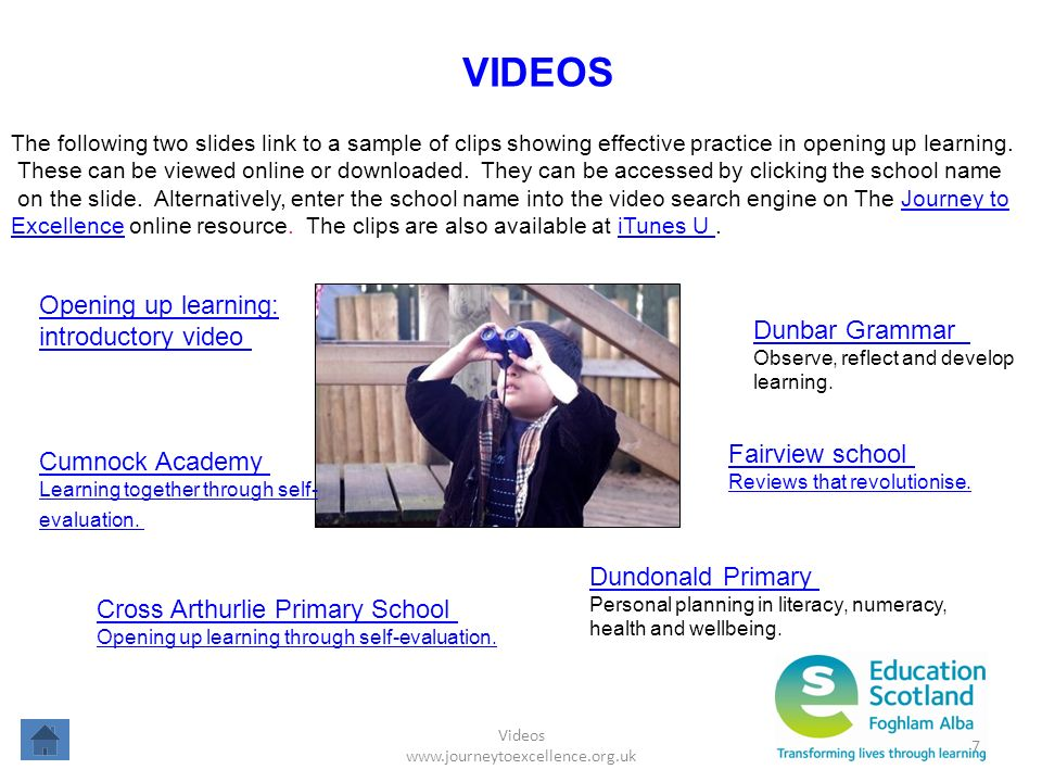 Videos www.journeytoexcellence.org.uk