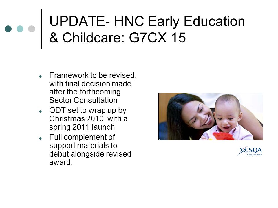 UPDATE- HNC Early Education & Childcare: G7CX 15