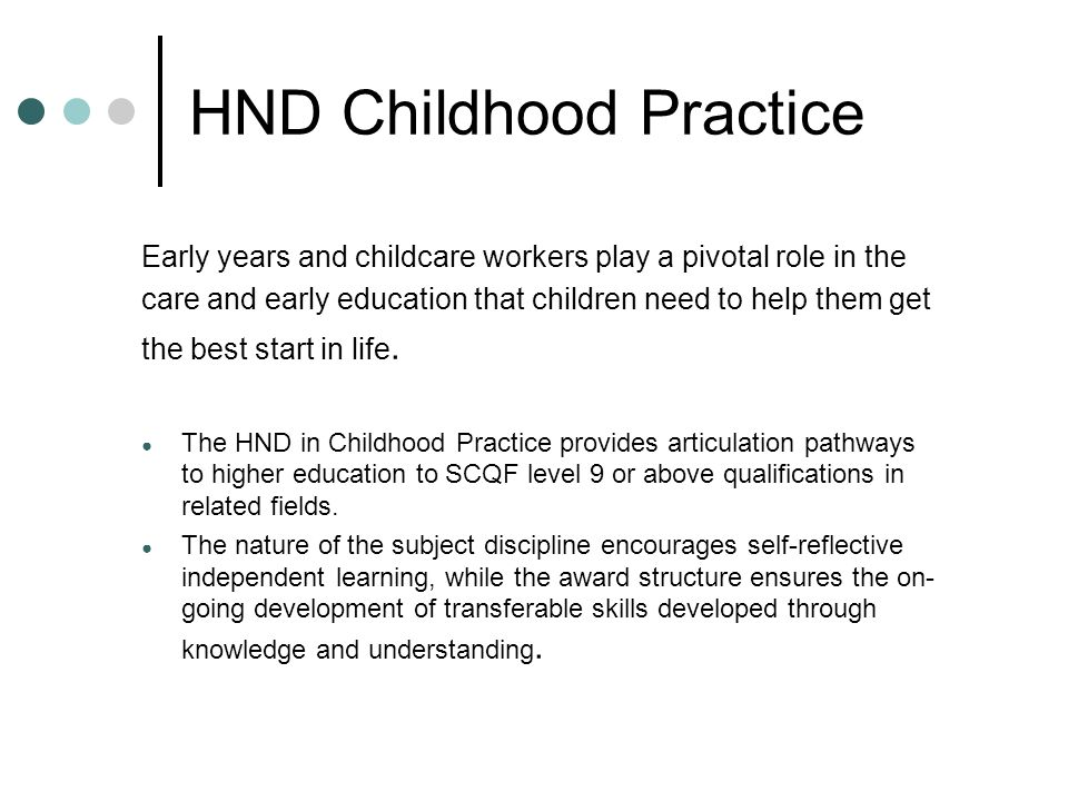 HND Childhood Practice