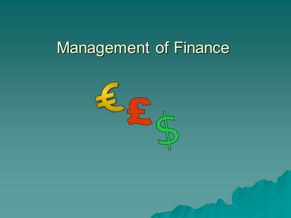 Management of Finance £